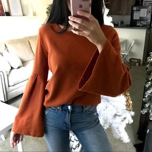 Bell Sleeve Knit Top